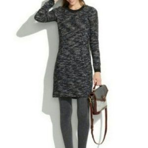 Madewell Marled Charcoal Sweater Dress